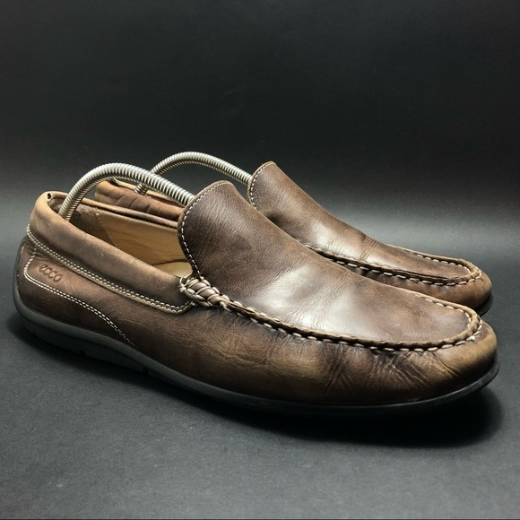 Ecco Leather Loafers Shoes